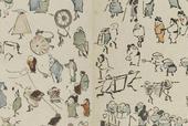 江戸時代の絵師 鍬形蕙斎が描いた「人物略画式」