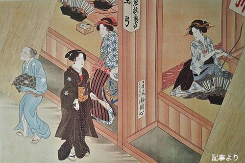 上野の森美術館「肉筆浮世絵 美の競艶」