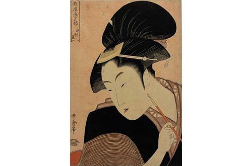 歌麿の浮世絵、最高値で落札=パリ
