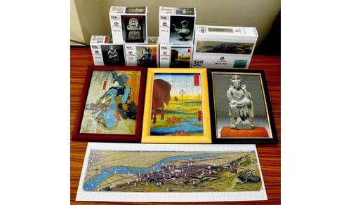広重の浮世絵など所蔵品をパズルに 松戸市立博物館