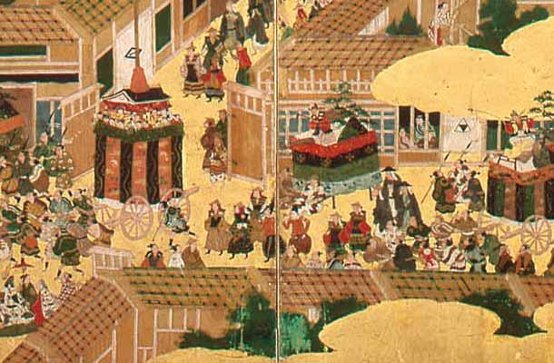 祇園祭礼図屏風