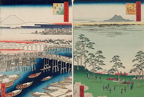 浮世絵展:必見、広重の江戸百景全点