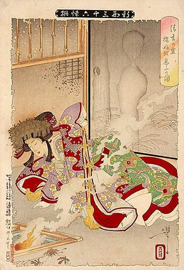 清玄の霊桜姫を慕うの図