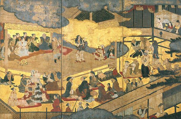 女歌舞伎図屏風