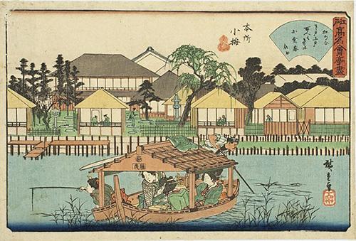 「隅田川」の浮世絵
