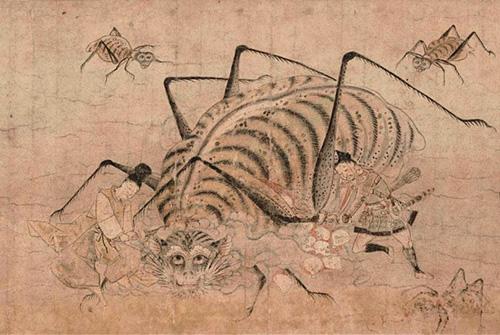 重要文化財「土蜘蛛草紙絵巻」