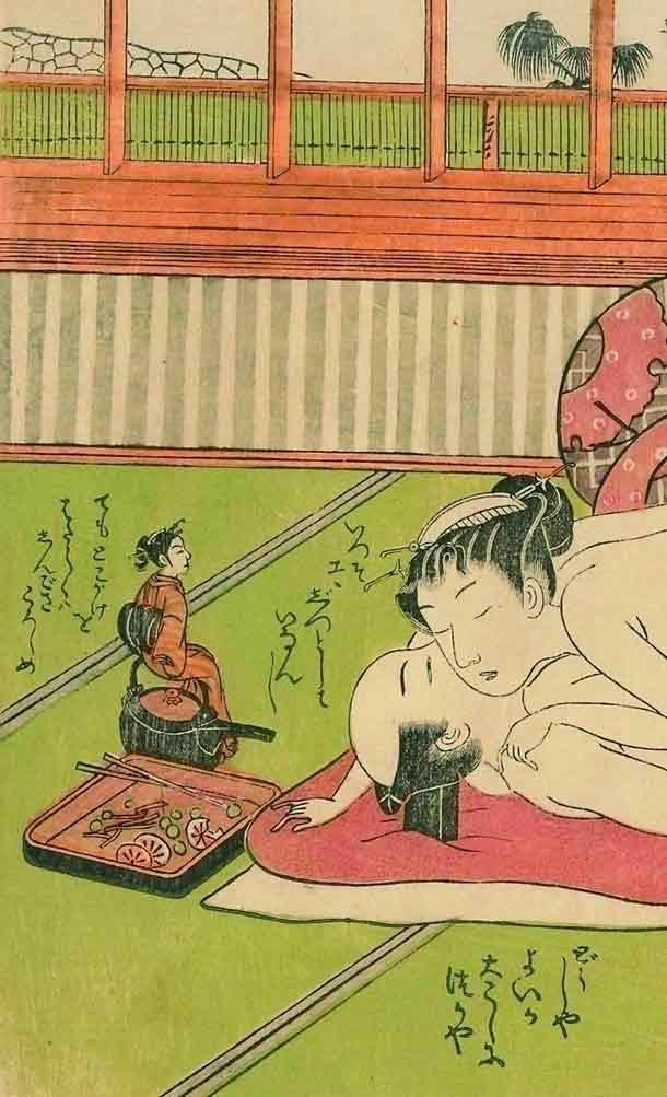 磯田湖竜斎「俳諧女夫まねへもん九」