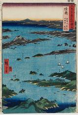 陸奥 松島風景 富山眺望之略図
