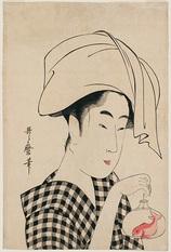 83-金魚鉢を下げる女