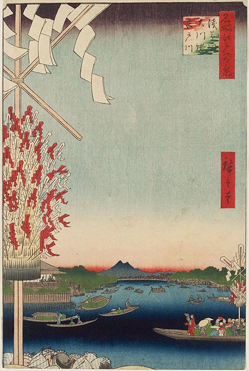 68浅草川大川端宮戸川 (夏の部)