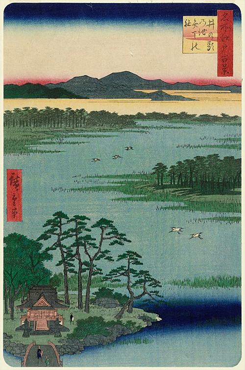 87井の頭の池弁天の社 (秋の部)