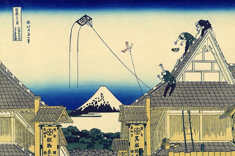 江都駿河町三井見世略図