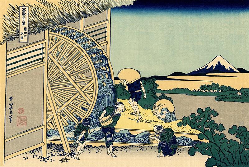 隠田の水車