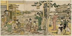 唐美人宴遊の図