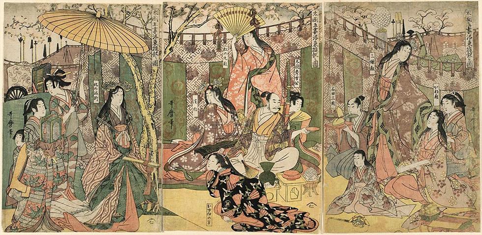 太閤五妻洛東遊観之図